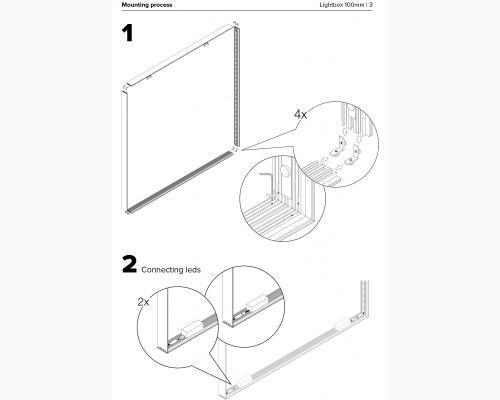 Lyskasse - dobbeltsidet